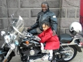 Deacon Cannon and Morena on the Bike