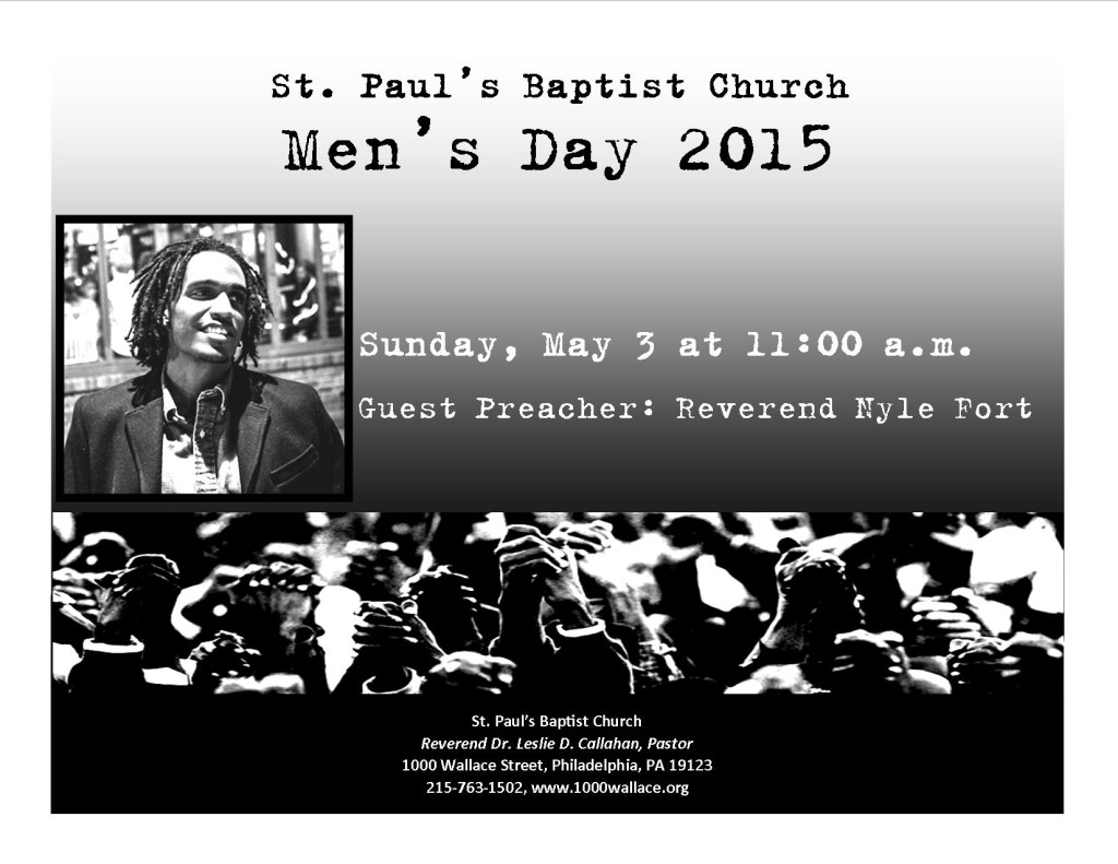 Join us for our 2015 Men's Day Celebration!