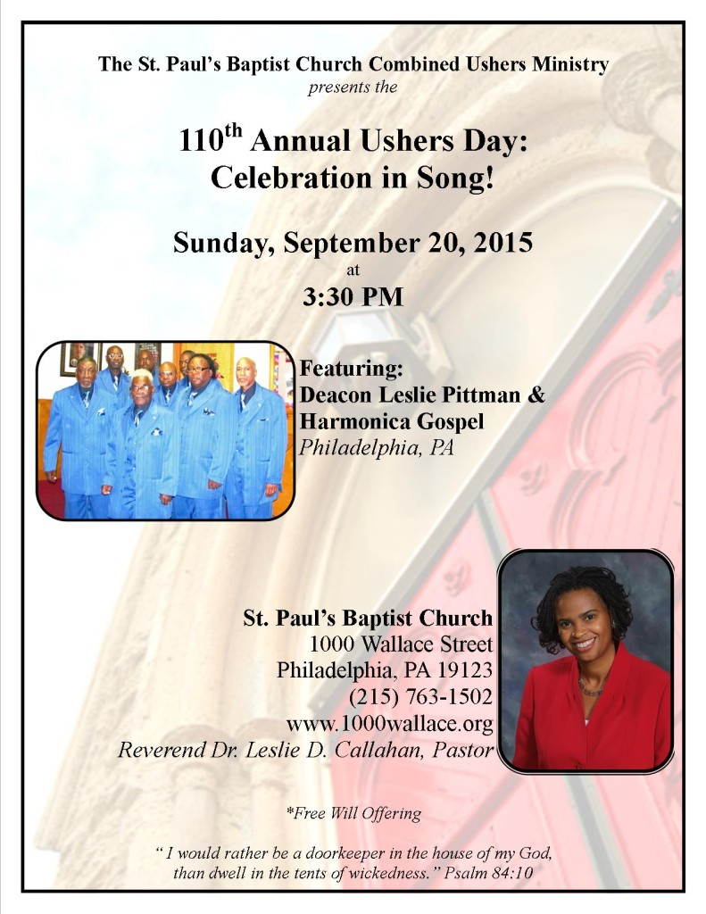 Ushers Annual Day 2015 Flyer